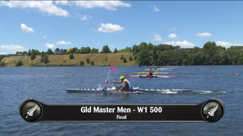 Video for 2019 Waka Ama Sprints - Gld Master Men - W1 500 Final