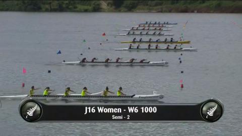 Video for 2019 Waka Ama Sprints - J16 Women - W6 1000 Semi 2/2