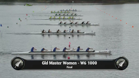 Video for 2019 Waka Ama Sprints - Gld Master Women - W6 1000 Final