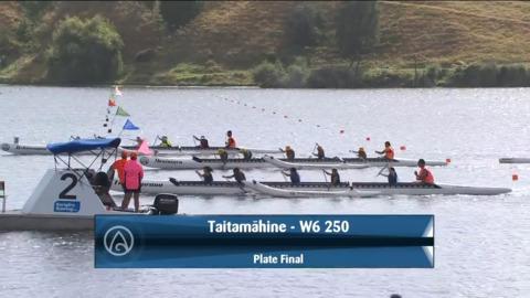 Video for 2021 Waka Ama Championships - Taitamaahine - W6 250 Plate Final