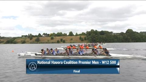 Video for 2021 Waka Ama Championships - Nat. Hauora Coalition Premier Men - W12 500 Final