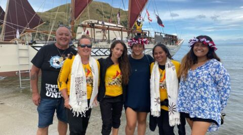 Video for Tuia 250 welcomed to Māhia in style with kaimoana, waiata and waka tours