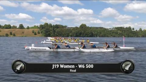 Video for 2019 Waka Ama Sprints - J19 Women - W6 500 Final