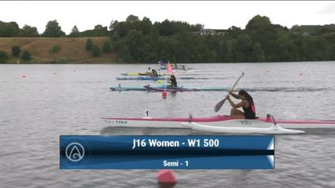Video for 2021 Waka Ama Championships - J16 Women - W1 500 Semi 1/2