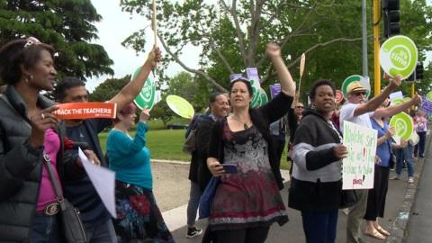 Video for Auckland teachers kick off nationwide strike