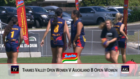 Video for 2019 Bunnings National Touch Champs, Open Womens, Thames Valley v Auckland B