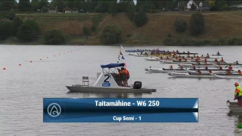 Video for 2021 Waka Ama Championships - Taitamaahine - W6 250 Cup Semi 1/2