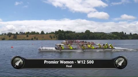 Video for 2019 Waka Ama Sprints - Premier Women - W12 500 Final