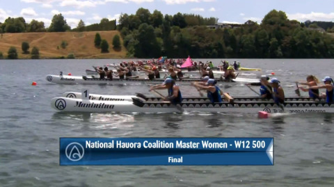 Video for 2020 Waka Ama Sprints - National Hauora Coalition Master Women - W12 500 Final