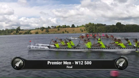 Video for 2019 Waka Ama Sprints - Premier Men - W12 500 Final
