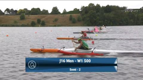 Video for 2021 Waka Ama Championships - J16 Men - W1 500 Semi 2/2