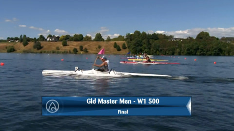 Video for 2020 Waka Ama Sprints - Gld Master Men - W1 500 Final