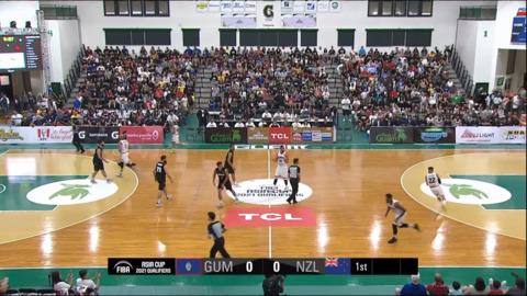 Video for FIBA Asia Cup 2021 Qualifers, Guam v New Zealand