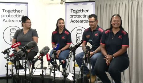 Video for 'There's nothing to be afraid of' - First MIQ workers receive Pfizer vaccine