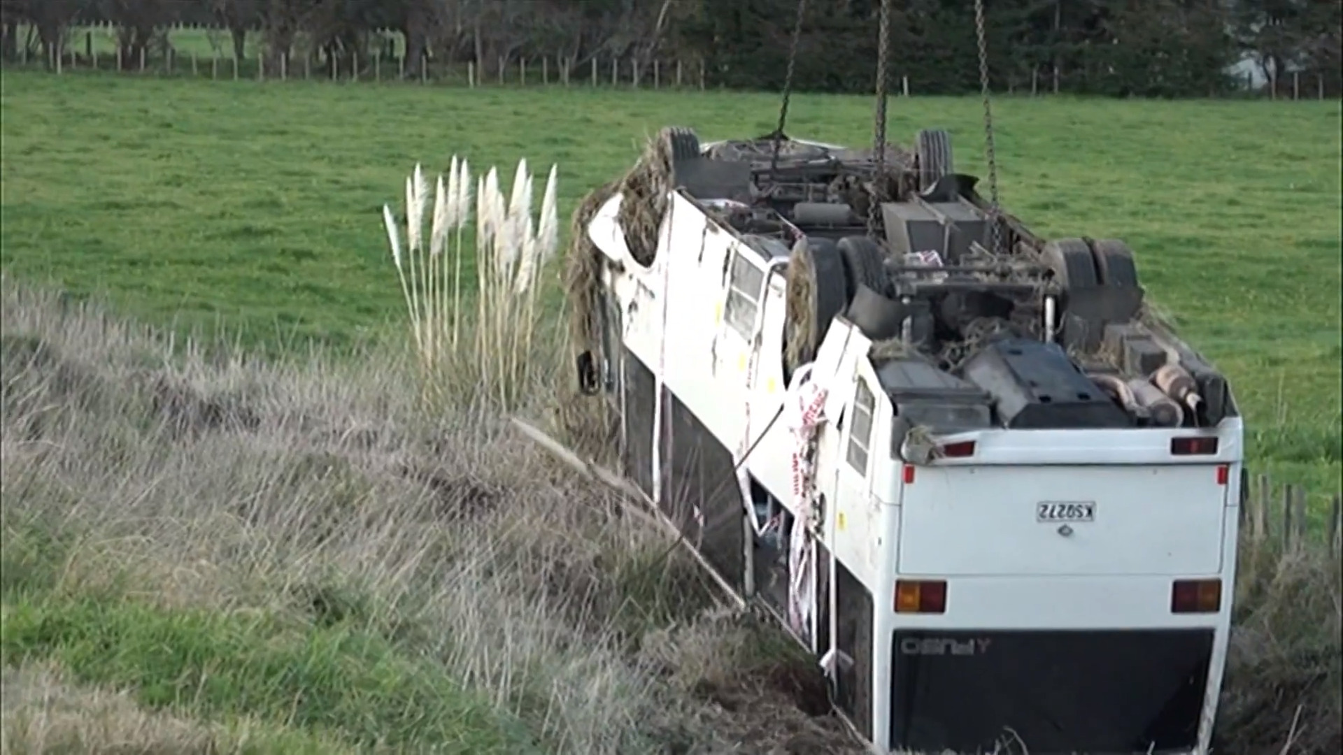 Video for One person remains hopitalised after Manawatu bus crash