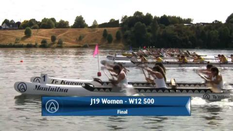 Video for 2020 Waka Ama Sprints - J19 Women - W12 500 Final