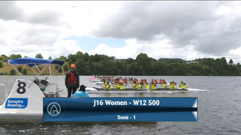 Video for 2021 Waka Ama Championships - J16 Women - W12 500 Semi 1/2