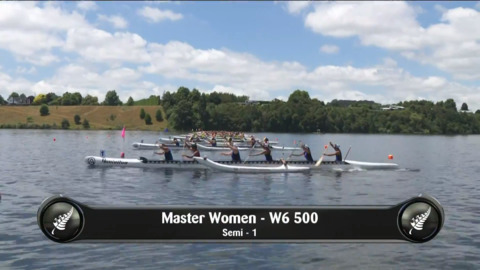 Video for 2019 Waka Ama Sprints - Master Women - W6 500 Semi 1/2