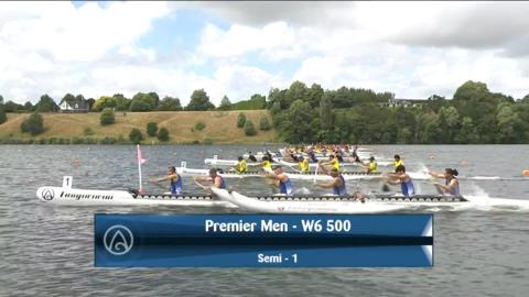 Video for 2021 Waka Ama Championships - Premier Men - W6 500 Semi 1/2