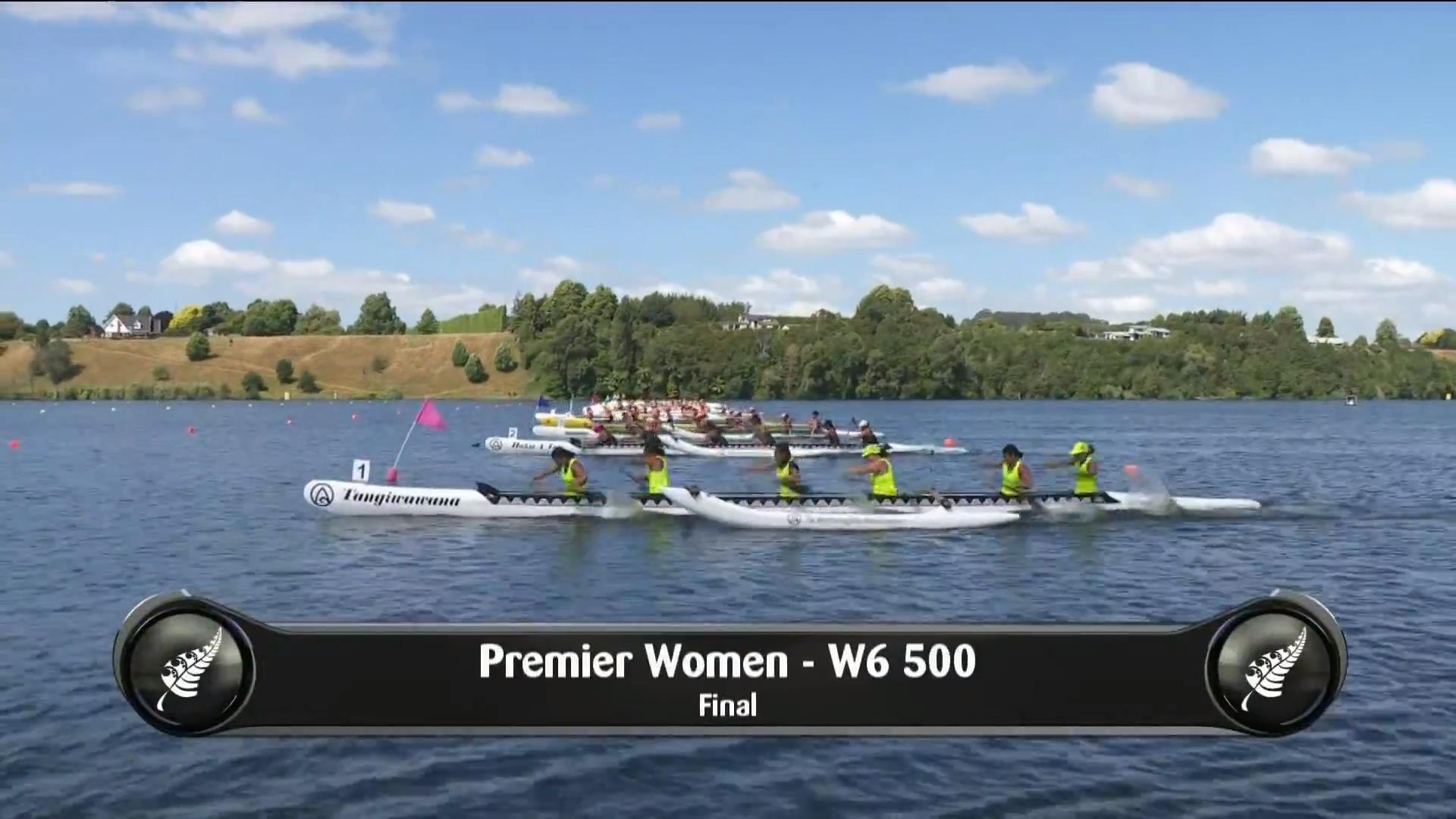 Video for 2019 Waka Ama Sprints - Premier Women - W6 500 Final