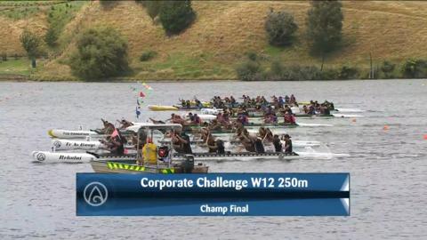 Video for 2021 Waka Ama Championships - Corporate Challenge - W12 250 Champ Final