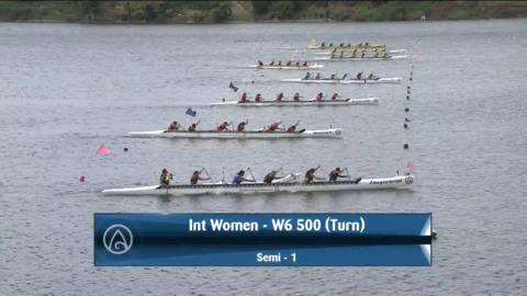 Video for 2021 Waka Ama Championships - Int Women - W6 500 (Turn) Semi 1/2