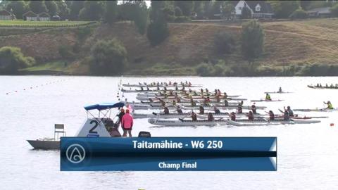 Video for 2021 Waka Ama Championships - Taitamaahine - W6 250 Champ Final
