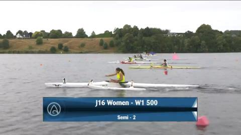 Video for 2021 Waka Ama Championships - J16 Women - W1 500 Semi 2/2