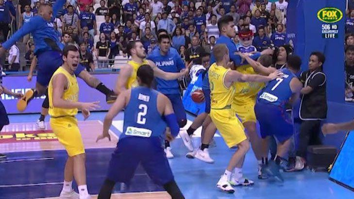 Chaos erupts in Boomers and Philippines mid-match brawl f8ee37f8e