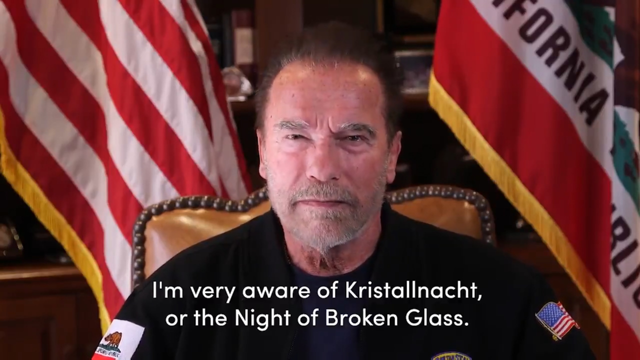 Schwarzenegger compares Capital riots to Kristallnacht