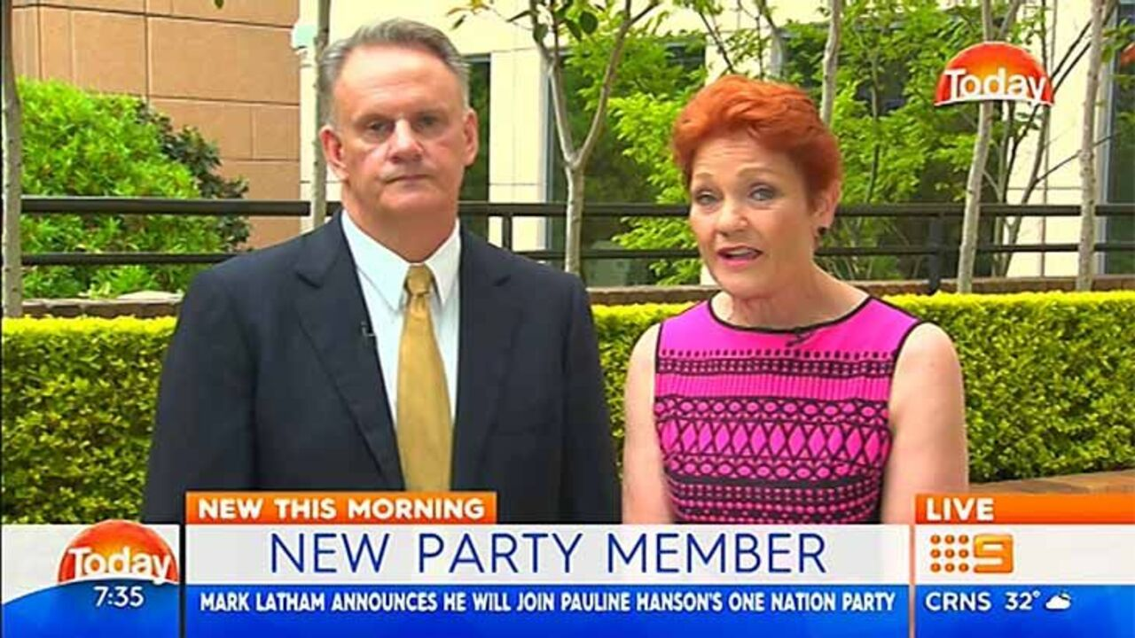 Mark Latham joins One Nation