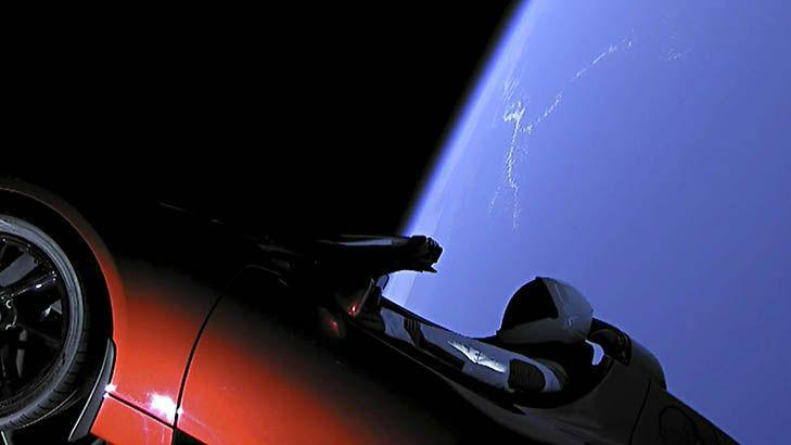 Spacexs Rocket Flung The Tesla Car On A Path That Goes Beyond Mars