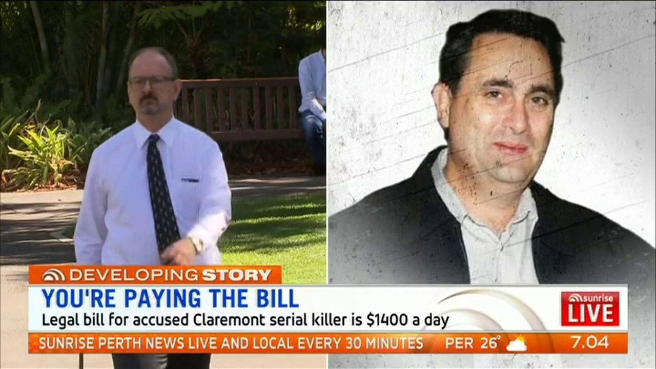 The legal bill for accused Claremont serial killer Bradley Robert Edwards is $1400 a day