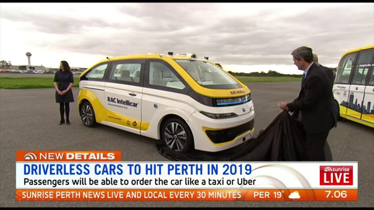 Perth is one of three cities around the world to trial driverless cars with trials starting on Perth roads in March next year