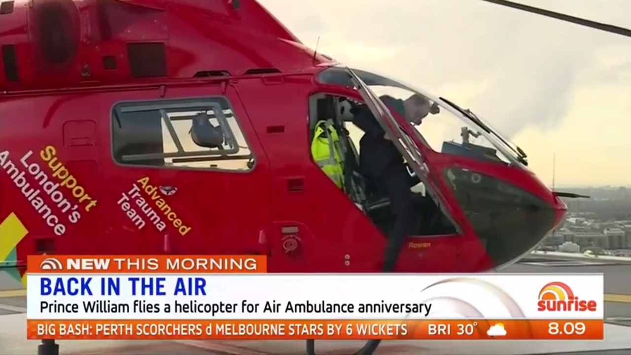 Prince William got to show off his flying skills in a London Air Ambulance