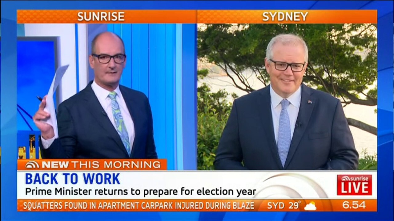 Scott Morrison has ruled out calling a March election, telling Sunrise the budget would be released in April before going to the polls in May