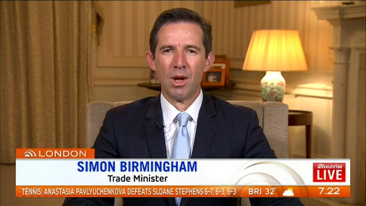 Trade Minister Scott Birmingham is negotiating a plan for Aussie exports to the UK in the new Brexit deal
