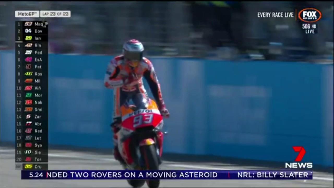 Marc Marquez won the Aragon MotoGP while Aussie Jack Miller finished ninth