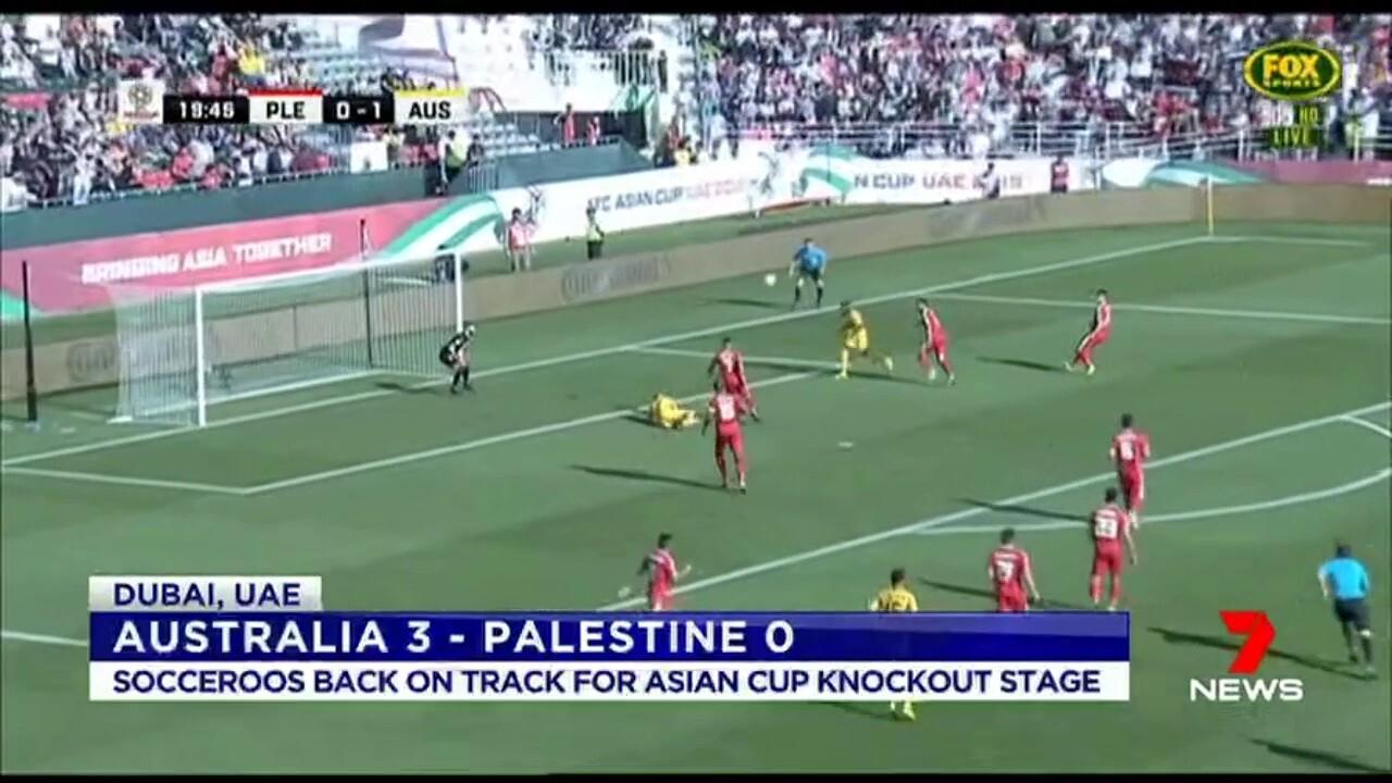 Australia put together a decisive 3-0 win over Palestine.