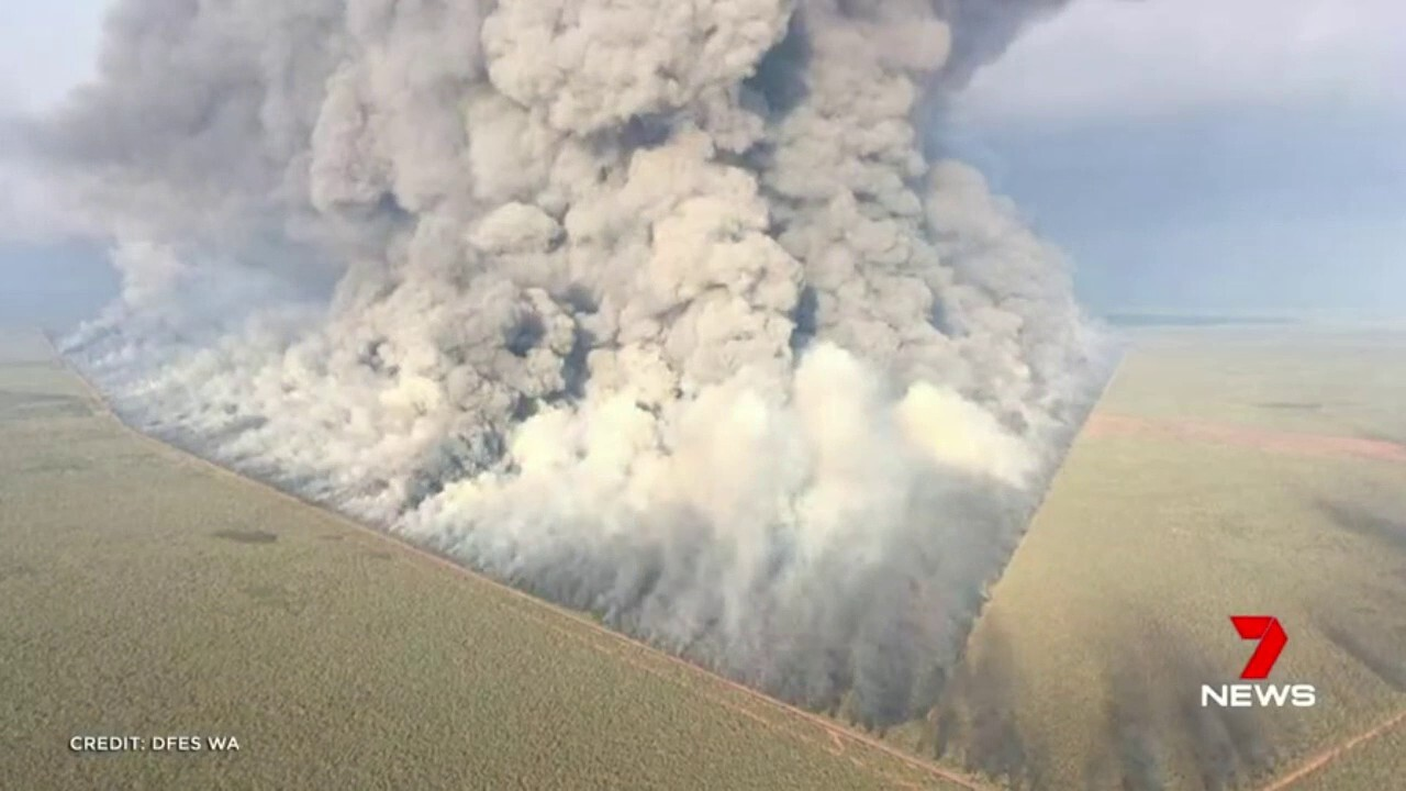 A bushfire raging in the Kimberley has now burnt through an area bigger than Perth.