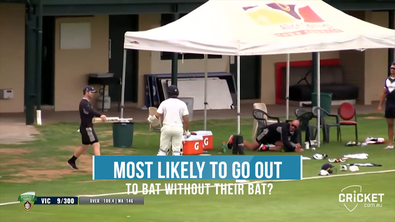 WATCH: In the 2016/17 Sheffield Shield, Fawad Ahmed went out to bat without his bat. We've asked the Scorchers WBBL players who they think would be most likely to do that from their team.
