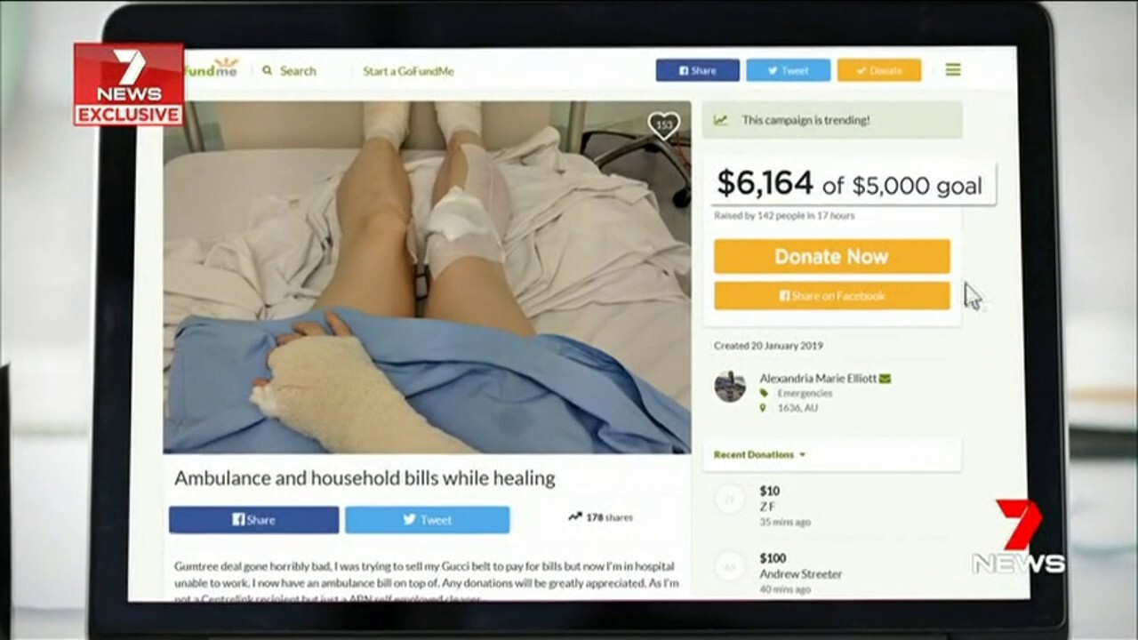 A young woman was left with terrible injuries after a Gumtree sale turned violent in Coolbellup.