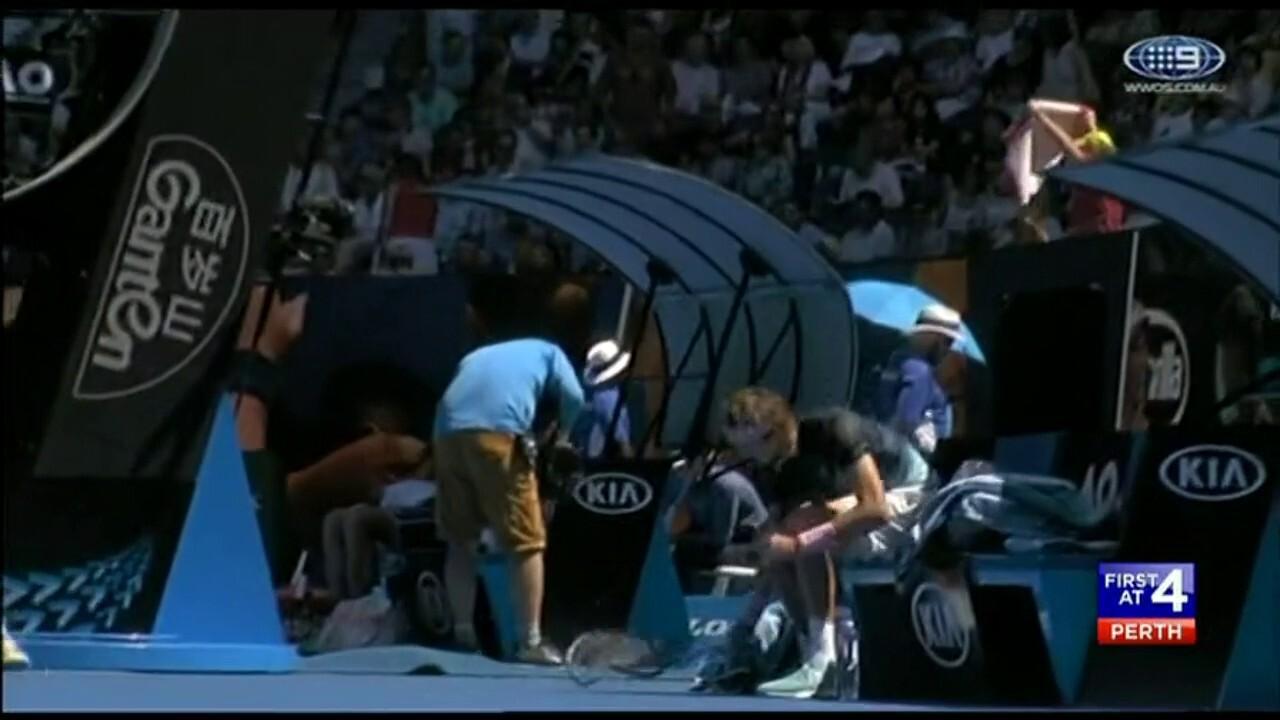 US Open champion Naomi Osaka is through to the Australian Open quarter finals.