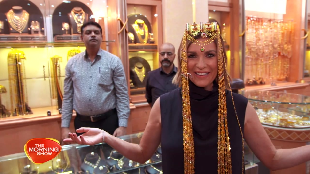 24-carat magic was definitely in the air when Kylie visited the Gold Souk.