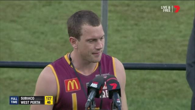 The Subiaco captain was named best on ground after leading his side to a grand final victory over West Perth.