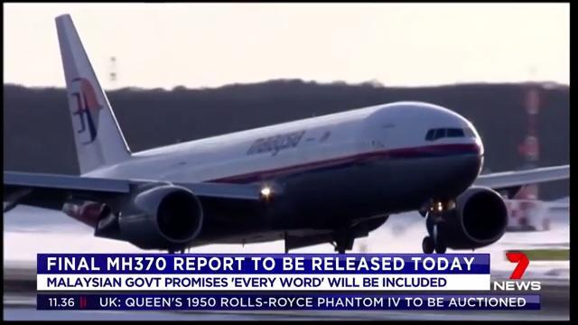 The Malaysian Government will release the final report into the mysterious disappearance of flight MH370 on Monday