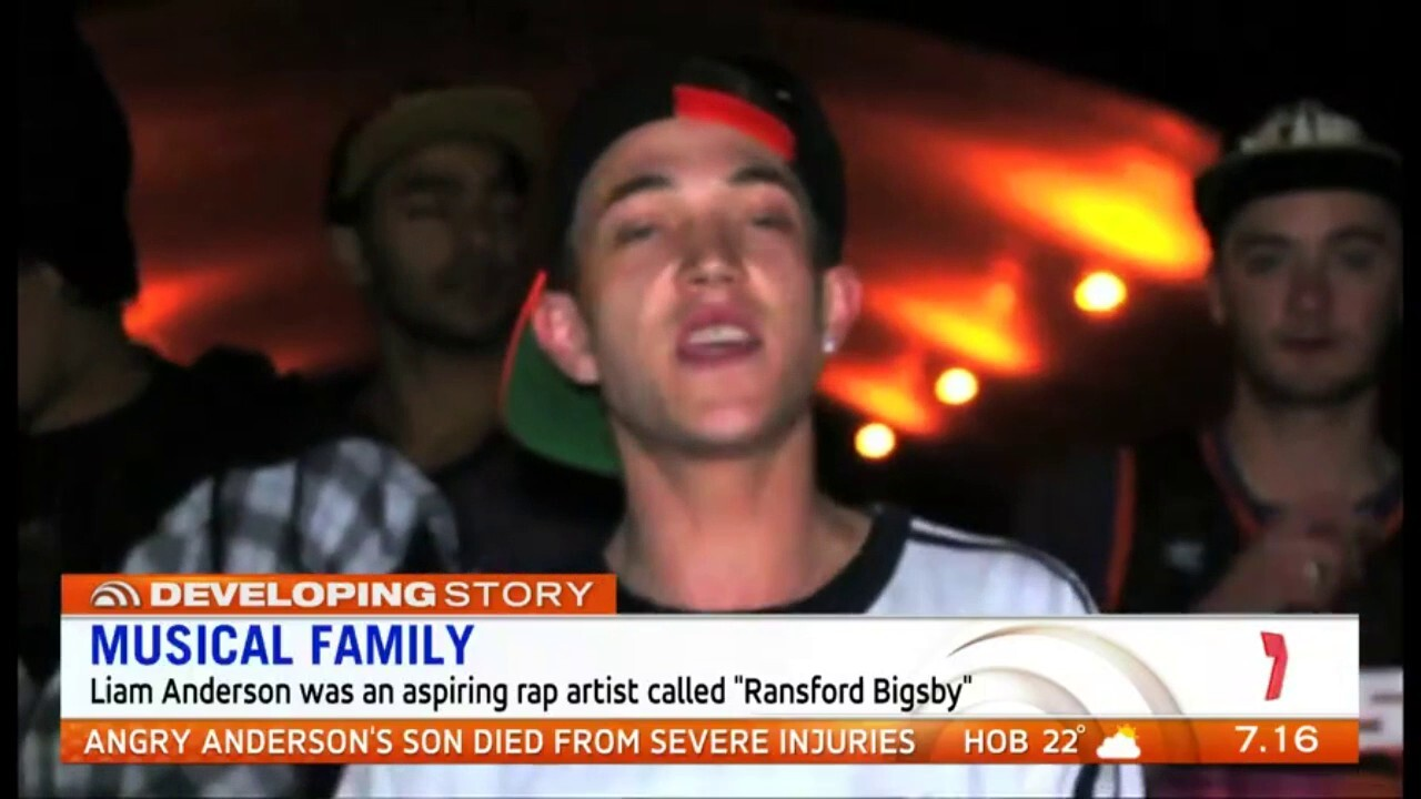 The youngest son of rock legend Angry Anderson was killed in a brutal and bloody attack on Sydney's northern beaches