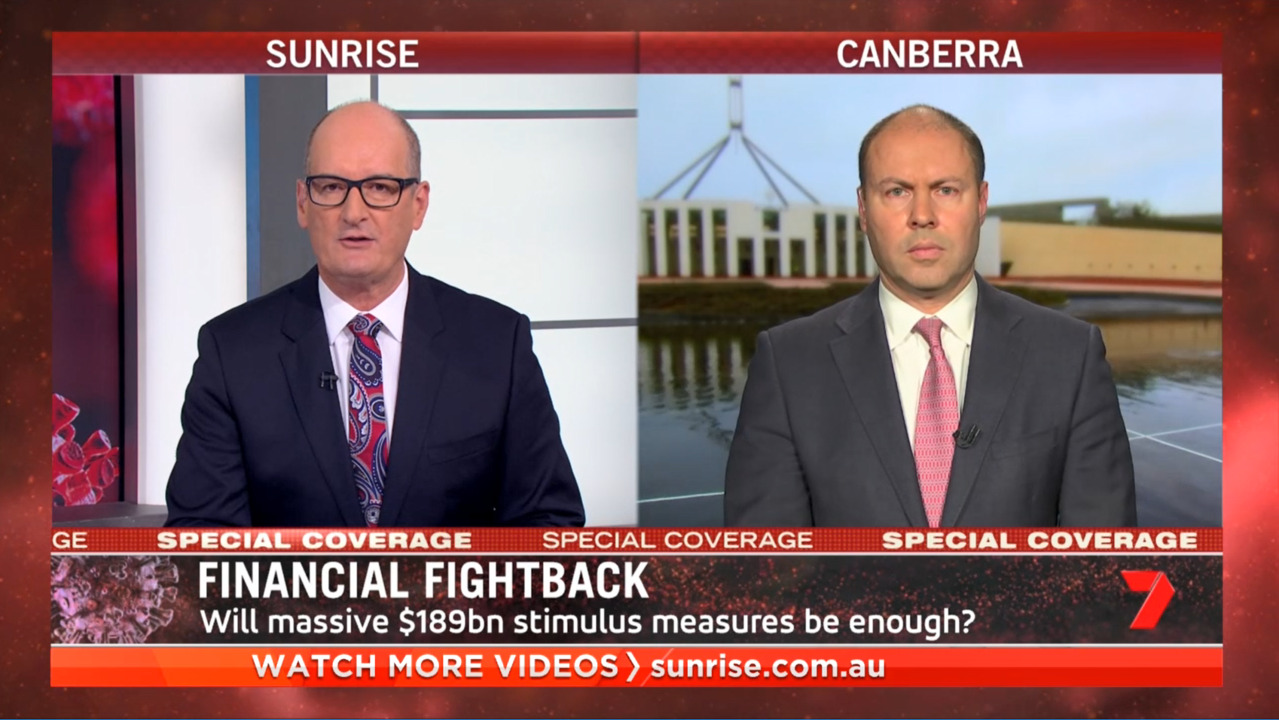 Josh Frydenberg On second stimulus