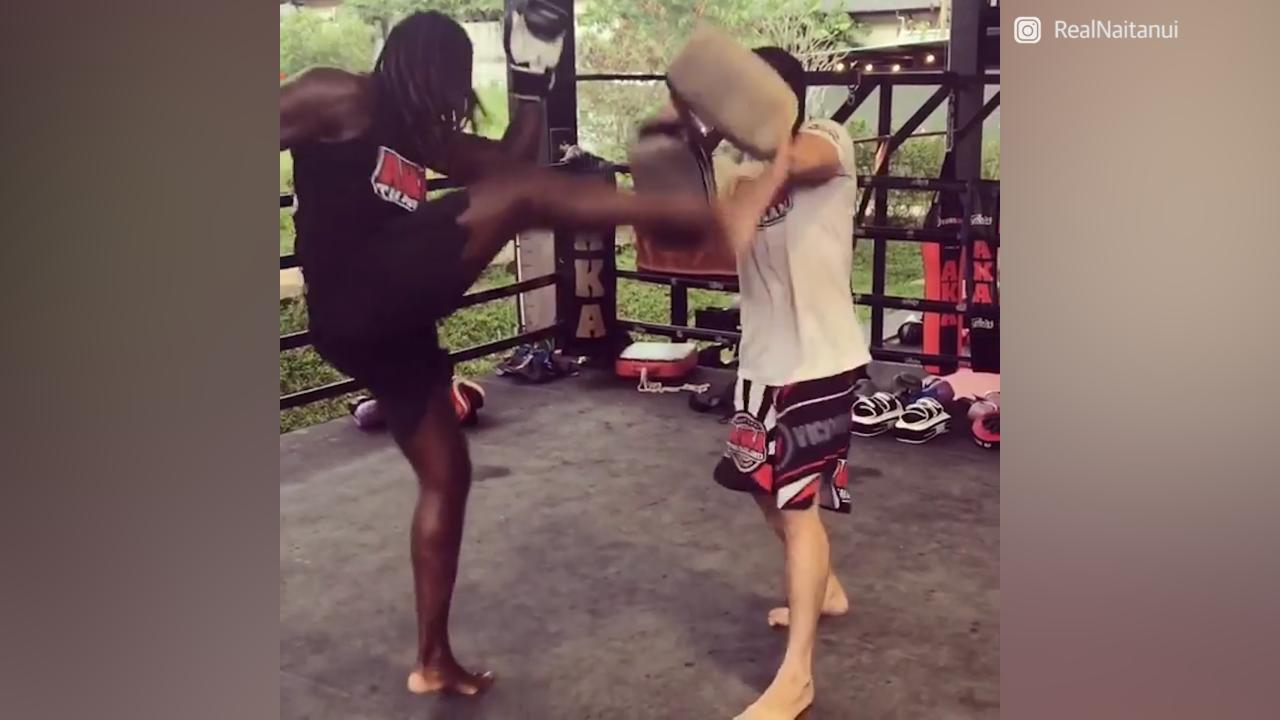 Nic Nat has been hitting the pads and rubbing shoulders with former UFC stars in a martial arts training camp in Thailand