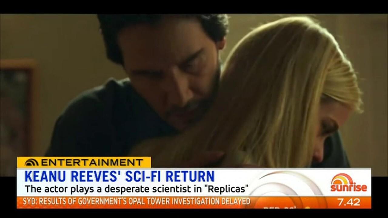 The actor plays a desperate scientist in 'Replicas'